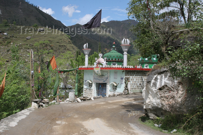 pakistan111: Siran Valley, NWFP, Pakistan: shrine of a Shia saint - photo by R.Zafar - (c) Travel-Images.com - Stock Photography agency - Image Bank