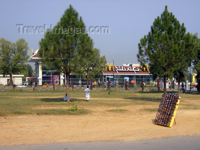 pakistan144: Islamabad, Pakistan: McDonald's restaurant - F-9 Park  - photo by D.Steppuhn - (c) Travel-Images.com - Stock Photography agency - Image Bank