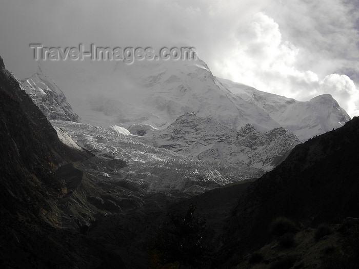 pakistan164: Nilt, Gilgit District - Northern Areas, Pakistan: view of the Rakaposhi Peak - 7,788 metres - Karakoram mountain range - Nagar Valley - photo by D.Steppuhn - (c) Travel-Images.com - Stock Photography agency - Image Bank