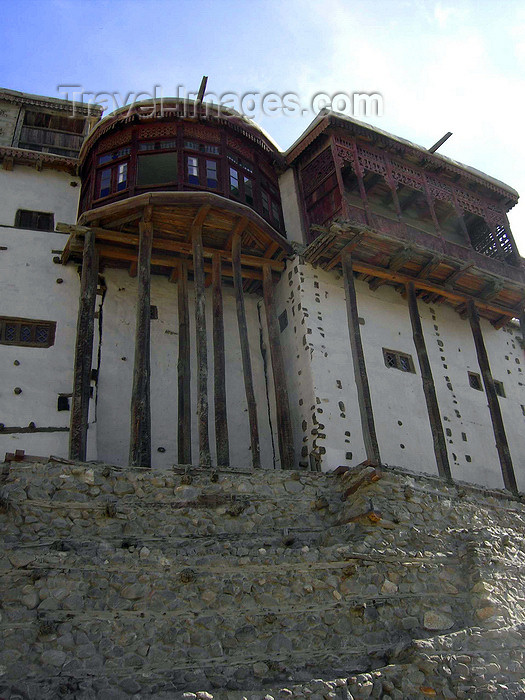 pakistan167: Karimabad / Baltit - Northern Areas, Pakistan: Baltit fort, once used by the Mirs of Hunza -  now a museum run by the Baltit Heritage Trust - Hunza Valley - KKH - photo by D.Steppuhn - (c) Travel-Images.com - Stock Photography agency - Image Bank