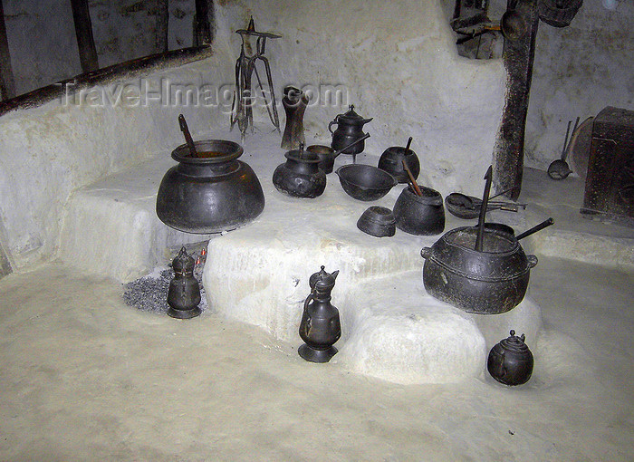 pakistan168: Karimabad / Baltit - Northern Areas, Pakistan: Baltit fort - kitchen utensils in the museum - Hunza Valley - photo by D.Steppuhn - (c) Travel-Images.com - Stock Photography agency - Image Bank