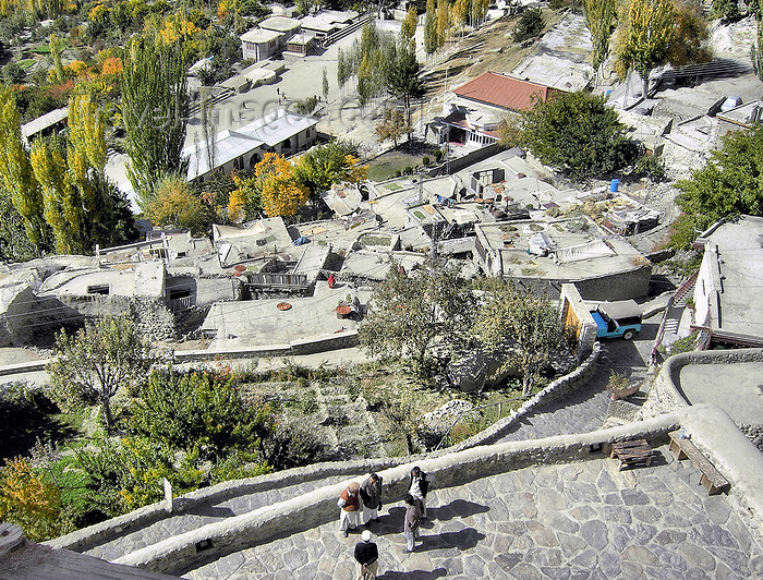 pakistan173: Karimabad / Baltit - Northern Areas, Pakistan: the village seen from Baltit fort - traditional settlement structure with terraced houses - KKH - photo by D.Steppuhn - (c) Travel-Images.com - Stock Photography agency - Image Bank