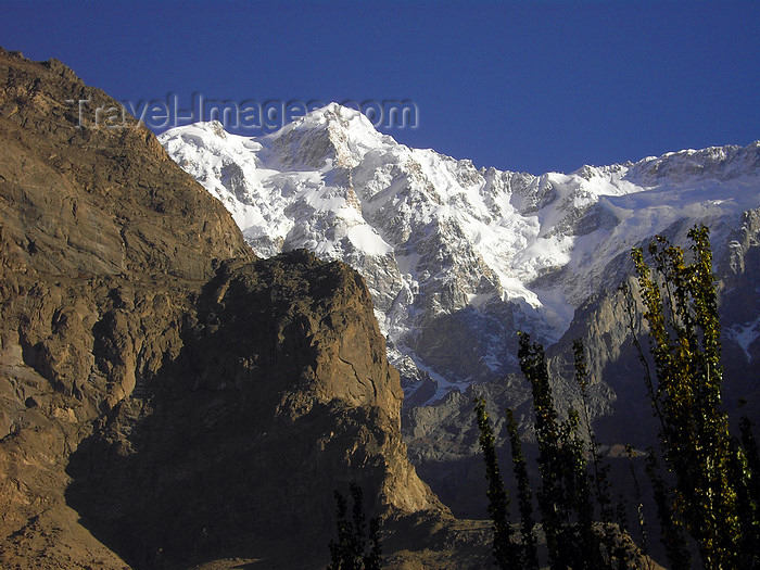pakistan178: Diram peak - Northern Areas / FANA, Pakistan: 7266 m - Karakoram mountain range - KKH - photo by D.Steppuhn - (c) Travel-Images.com - Stock Photography agency - Image Bank