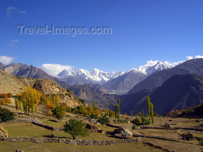 pakistan180: Duikar hamlet, Altit - Northern Areas, Pakistan: view to Sleeping Beauty from Eagles' Nest hotel - Hunza valley - photo by D.Steppuhn - (c) Travel-Images.com - Stock Photography agency - Image Bank