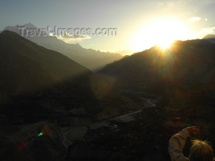 pakistan182: Duikar hamlet, Altit - Northern Areas, Pakistan: sunset in the Karakoram mountains - photo by D.Steppuhn - (c) Travel-Images.com - Stock Photography agency - Image Bank