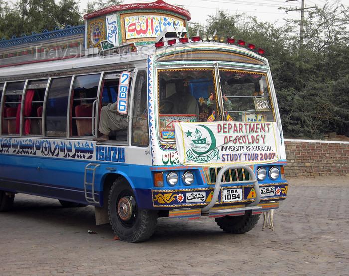 pakistan29: Jhelum District, Punjab, Pakistan: Khewra Salt Mines - tour bus - University of Karachi, Department of Geology - Isuzu - photo by D.Steppuhn - (c) Travel-Images.com - Stock Photography agency - Image Bank