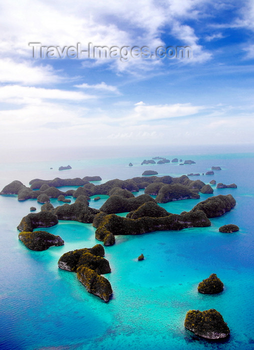 palau12: Ngerukeuid / Orukuizu islands, Rock Islands / Chelbacheb, Palau: islands and turquoise lagoons from the air - Seventy Islands wildlife reserve - photo by B.Cain - (c) Travel-Images.com - Stock Photography agency - Image Bank