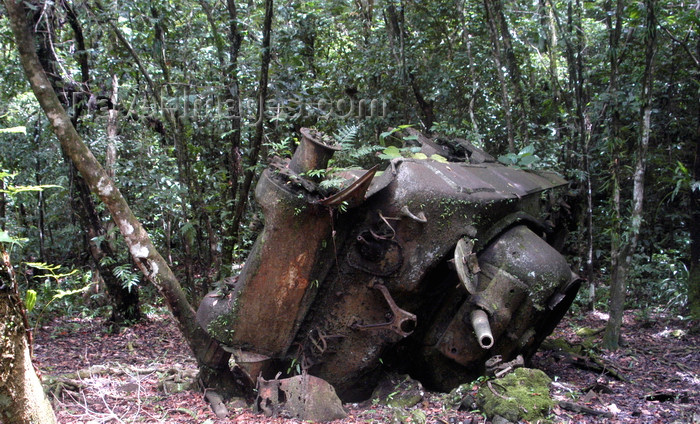 palau8: Peleliu / Beliliou island, Palau: WWII Sherman Tank destroyed by the 14th Division of the Imperial Japanese Army army during the Battle of Peleliu - photo by B.Cain - (c) Travel-Images.com - Stock Photography agency - Image Bank