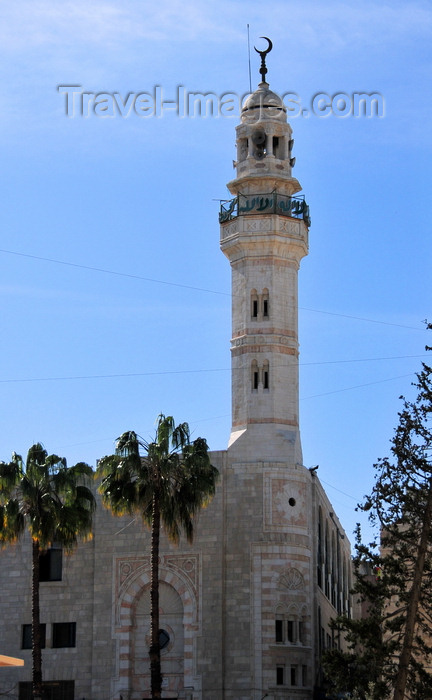 palest50: Bethlehem, West Bank, Palestine: Mosque of Omar - built in 1860 to commemorate the visit to Bethlehem by the second Rashidun Muslim Caliph, Umar ibn al-Khattab, upon its capture by the Muslims in 637 AD - photo by M.Torres - (c) Travel-Images.com - Stock Photography agency - Image Bank