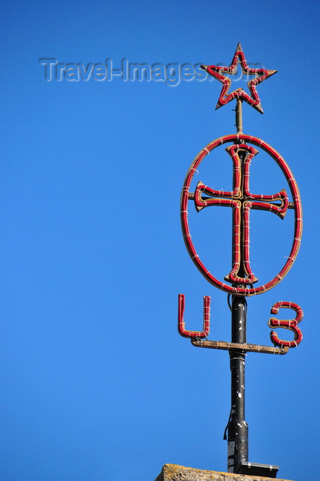 palest55: Bethlehem, West Bank, Palestine: Church of the Nativity - Armenian cross, with the Armenian alphabet equivalent to Alpha and Omega - photo by M.Torres - (c) Travel-Images.com - Stock Photography agency - Image Bank