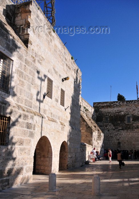 palest69: Bethlehem, West Bank, Palestine: Church of the Nativity - fortress-like walls spared by the Persians during their invasion in 614 AD - photo by M.Torres - (c) Travel-Images.com - Stock Photography agency - Image Bank