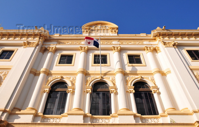 panama423: Panama City / Ciudad de Panama:  Casco Viejo - façade of the Palacio de Gobierno - architect Genaro Ruggieri - photo by M.Torres - (c) Travel-Images.com - Stock Photography agency - Image Bank