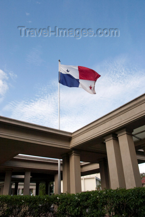 panama496: Panama City / Ciudad de Panama: Ascanio Arosemena Training Center - Panamanian Flag, Balboa  - photo by H.Olarte - (c) Travel-Images.com - Stock Photography agency - Image Bank