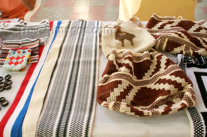 paraguay46: Asunción, Paraguay: Nivakle indians handicraft - knitting | artesanias de la parcialidad Nivakle - photo by A.Chang - (c) Travel-Images.com - Stock Photography agency - Image Bank