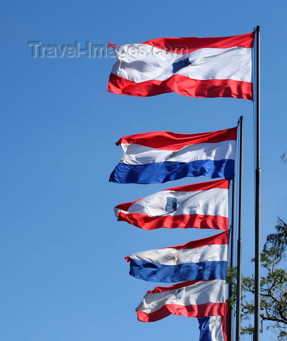 paraguay54: Asunción, Paraguay: city and Paraguay flags - photo by A.Chang - (c) Travel-Images.com - Stock Photography agency - Image Bank