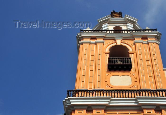 peru1: Lima, Peru: bell tower of the Merced church - Basílica Menor de Nuestra Señora de la Merced - photo by M.Torres - (c) Travel-Images.com - Stock Photography agency - Image Bank