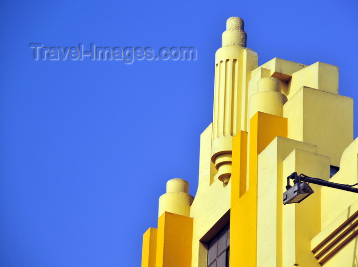 peru105: Lima, Peru: modernist detail at the building now used by McDonald's - corner of Jirón de la Unión and Miró Quesada st. - photo by M.Torres - (c) Travel-Images.com - Stock Photography agency - Image Bank