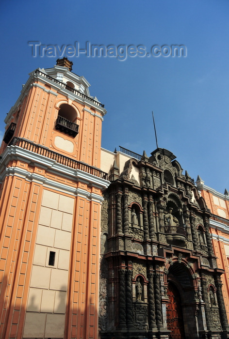 peru2: Lima, Peru: façade of the Basílica Menor de Nuestra Señora de la Merced - corner of Jirón de la Unión and Miró Quesada st - Iglesia de la Merced - photo by M.Torres - (c) Travel-Images.com - Stock Photography agency - Image Bank