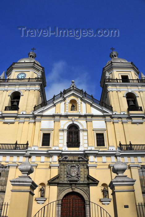 peru61: Lima, Peru: Baroque falaçade of the Basilica of San Pedro - Jesuit church at the corner of Azangaro and Ucayali streets - photo by M.Torres - (c) Travel-Images.com - Stock Photography agency - Image Bank