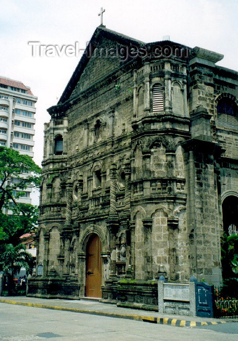 phil3: Philippines - Manila: Spanish town - church façade - photo by M.Torres - (c) Travel-Images.com - Stock Photography agency - Image Bank
