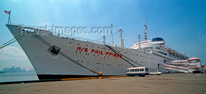 phil39: Manila, Philippines - International port, Cruise ship M/S Philippines - photo by B.Henry - (c) Travel-Images.com - Stock Photography agency - Image Bank