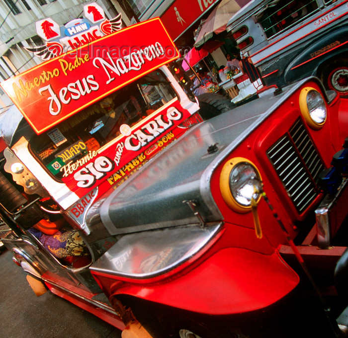 phil45: Manila city, Philippines - Christian Jeepney bus -  photo by B.Henry - (c) Travel-Images.com - Stock Photography agency - Image Bank