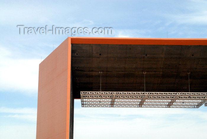 portugal-se155: Portugal - Setúbal: detail of open air concert venue / detalhe de um coreto pós-moderno - photo by M.Durruti - (c) Travel-Images.com - Stock Photography agency - Image Bank