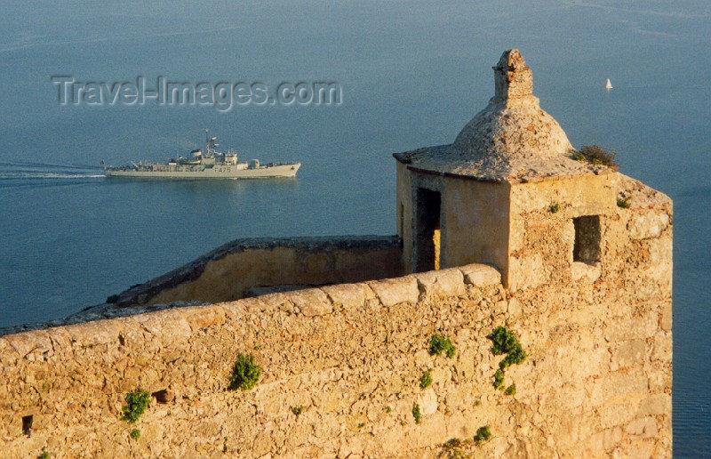 portugal48: Portugal - Setúbal: frigate F475 from fort St. Filipe - Portuguese navy / fragata F475  da Armada Portuguesa vista do forte de São Filipe - photo by M.Durruti - (c) Travel-Images.com - Stock Photography agency - Image Bank