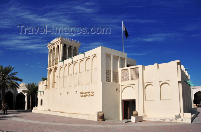 qatar10: Doha, Qatar: Heritage House Museum, aka Wind Tower house - showcases the ethnography of Qatar - built in 1935, famous for the wind tower, Souq Al Najada, off Grand Hamad Street - photo by M.Torres - (c) Travel-Images.com - Stock Photography agency - Image Bank