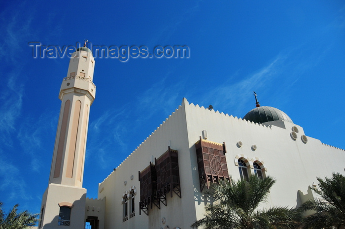 qatar19: Doha, Qatar: the green domed Jassim Al Thani mosque, intersection of Ali bin Abdullah with Al-Asmakh street - photo by M.Torres - (c) Travel-Images.com - Stock Photography agency - Image Bank