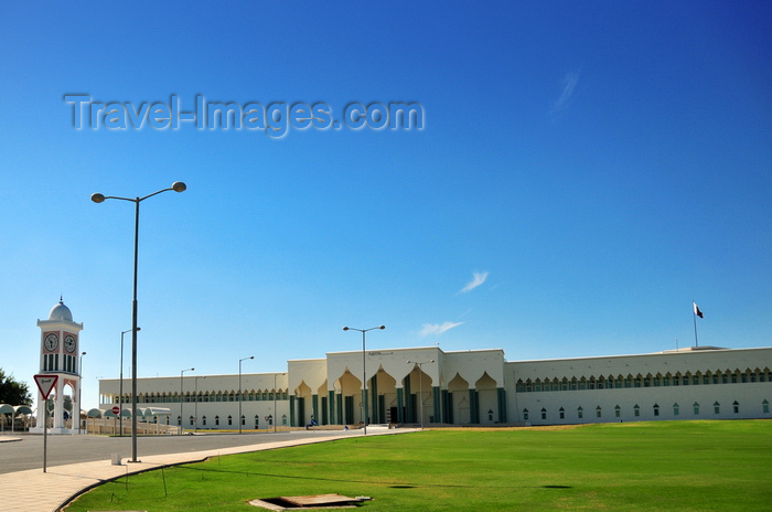 qatar30: Doha, Qatar: Clock tower and main entrance to the Diwan al-Amiri, the Emir's Palace - photo by M.Torres - (c) Travel-Images.com - Stock Photography agency - Image Bank