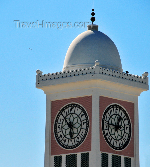 qatar31: Doha, Qatar: the Clock Tower with Arabic numerals on its face - built by Darwish Engineering on a small promontory in 1956, together with the old Diwan al Amiri and Grand Mosque - photo by M.Torres - (c) Travel-Images.com - Stock Photography agency - Image Bank