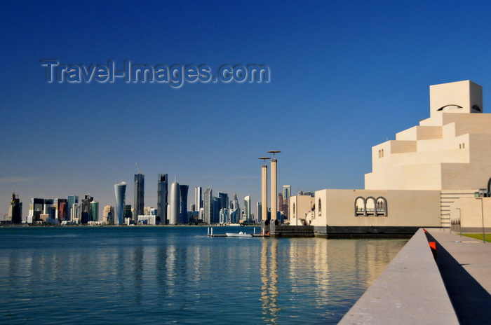 qatar64: Doha, Qatar: Museum of Islamic Art and the West Bay skyscrapers - photo by M.Torres - (c) Travel-Images.com - Stock Photography agency - Image Bank