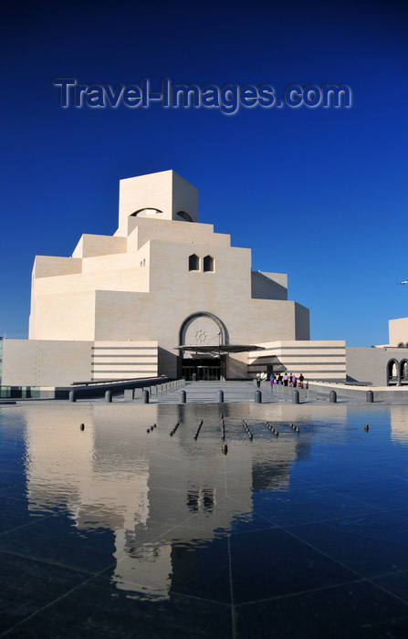 qatar68: Doha, Qatar: limestone facade of the Museum of Islamic Art reflected in the pond - Doha's flagship museum - photo by M.Torres - (c) Travel-Images.com - Stock Photography agency - Image Bank