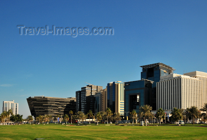 qatar71: Doha, Qatar: south end of the Corniche - Sultan Bin Abdullah Al-Asiri tower, Al Hitmi Towers, Regency Business Center - photo by M.Torres - (c) Travel-Images.com - Stock Photography agency - Image Bank