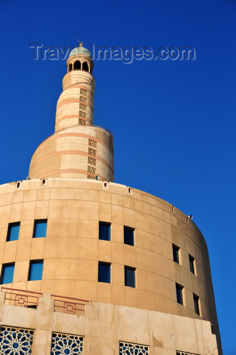 qatar79: Doha, Qatar: Qatar Islamic Cultural Center, FANAR - Spiral Mosque of the Kassem Darwish Fakhroo Islamic Centre - photo by M.Torres - (c) Travel-Images.com - Stock Photography agency - Image Bank