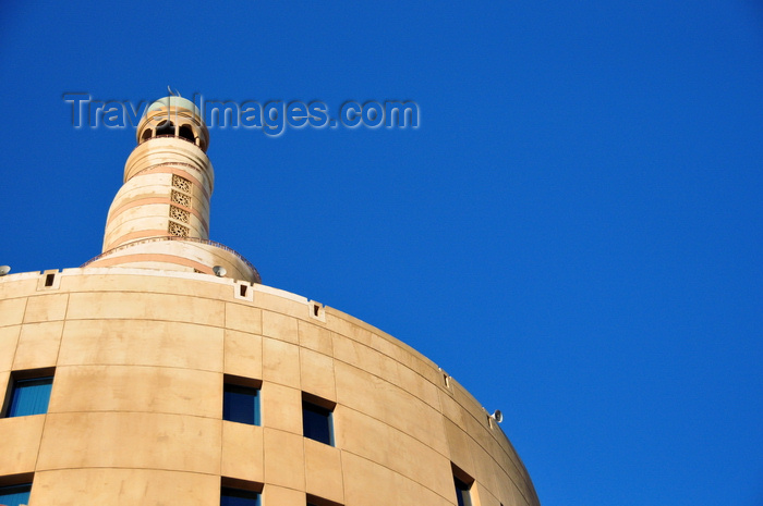 qatar80: Doha, Qatar: Qatar Islamic Cultural Center, FANAR - cylinder and spiral minaret - photo by M.Torres - (c) Travel-Images.com - Stock Photography agency - Image Bank