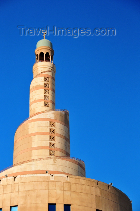 qatar82: Doha, Qatar: Qatar Islamic Cultural Center, FANAR - architecture inspired on the Great Mosque of al-Mutawwakil, in Samarra, Iraq - photo by M.Torres - (c) Travel-Images.com - Stock Photography agency - Image Bank
