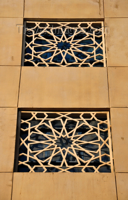 qatar83: Doha, Qatar: windows with Islamic brise-soleil patterns - Qatar Islamic Cultural Center, FANAR - photo by M.Torres - (c) Travel-Images.com - Stock Photography agency - Image Bank