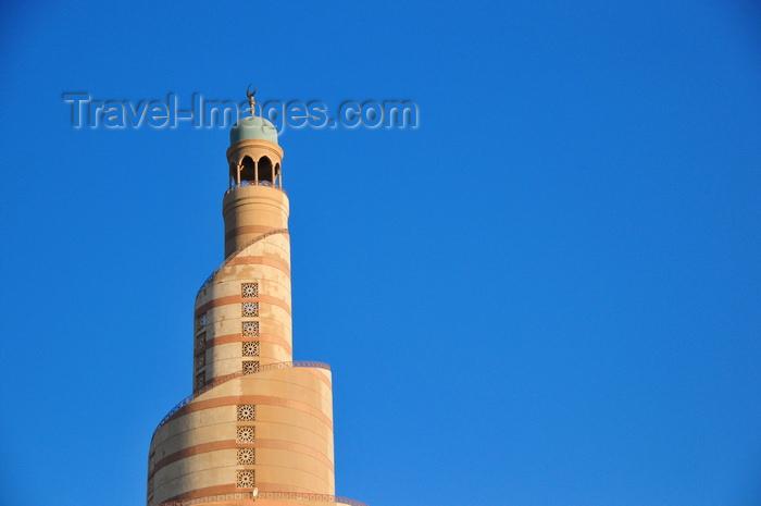 qatar85: Doha, Qatar: Qatar Islamic Cultural Center, FANAR, meaning 'lighthouse' - spiral minaret, evoking Samarra's Malwiya Tower - photo by M.Torres - (c) Travel-Images.com - Stock Photography agency - Image Bank