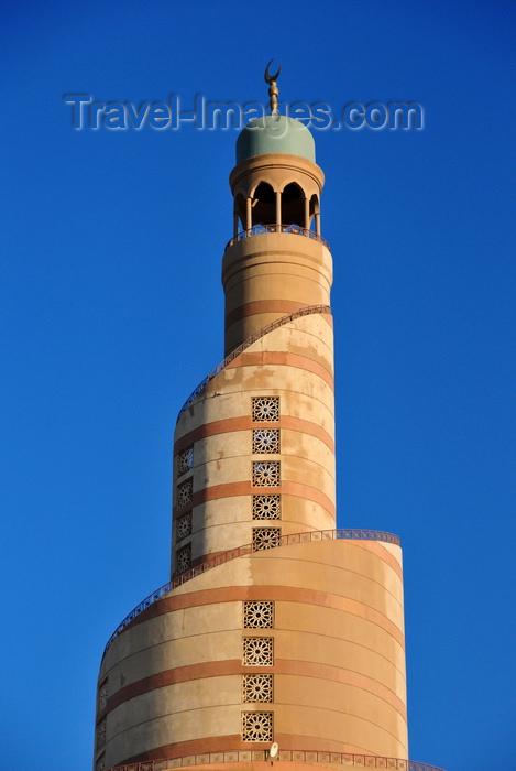 qatar87: Doha, Qatar: Qatar Islamic Cultural Center, FANAR - top of the spiral minaret / manara - photo by M.Torres - (c) Travel-Images.com - Stock Photography agency - Image Bank