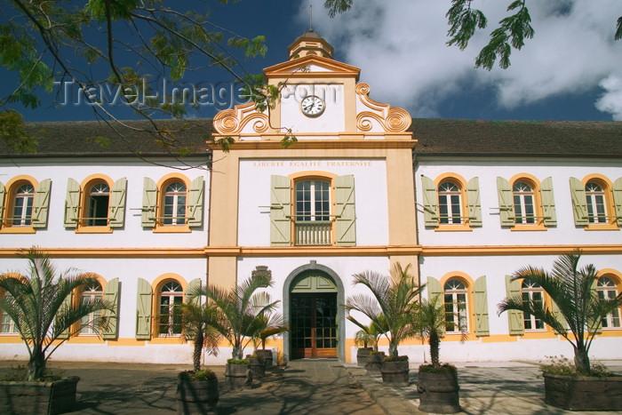 reunion131: Réunion (sud) - St-Pierre: town hall façade / hotel de ville - photo by Y.Guichaoua - (c) Travel-Images.com - Stock Photography agency - Image Bank