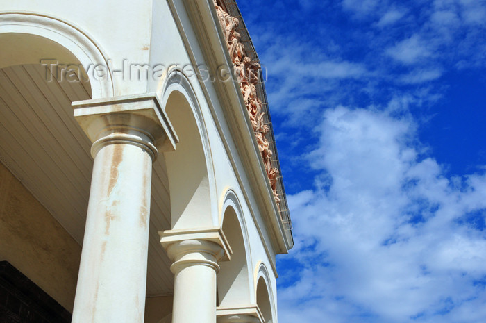 reunion201: Saint-Denis, Réunion: Holy Saviour cathedral - porch and pediment - photo by M.Torres - (c) Travel-Images.com - Stock Photography agency - Image Bank