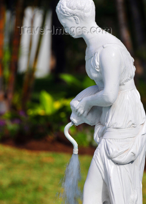 reunion224: Saint-Denis, Réunion: figure in a fountain in front of the Conseil Général de La Réunion building - photo by M.Torres - (c) Travel-Images.com - Stock Photography agency - Image Bank