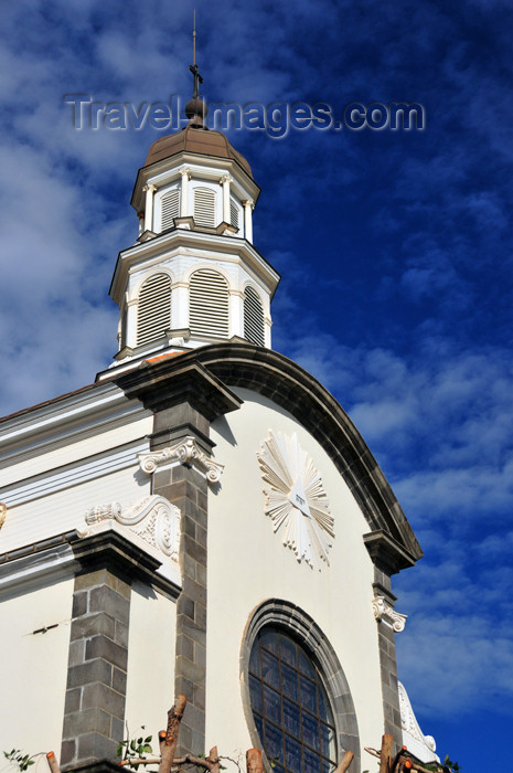 reunion228: Saint-Denis, Réunion: gable of the chapel of the Immaculate Conception - Rue de Ste-Anne - Chapelle de l'Immaculée Conception - photo by M.Torres - (c) Travel-Images.com - Stock Photography agency - Image Bank