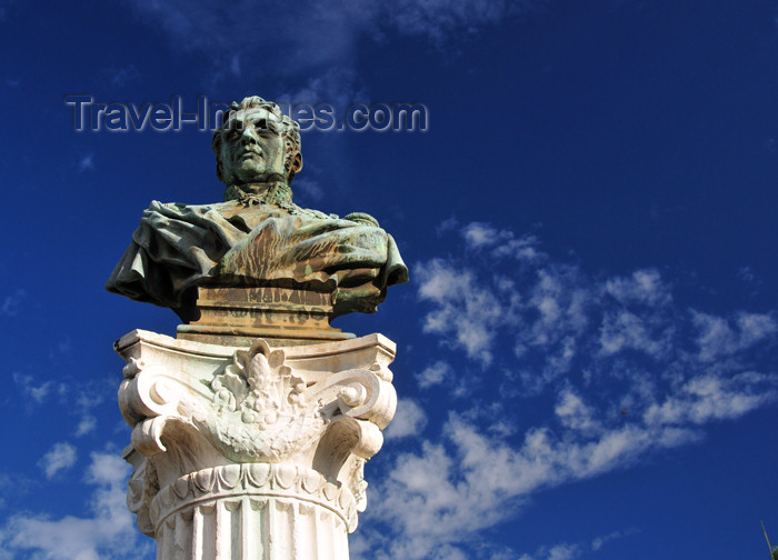 reunion237: Saint-Denis, Réunion: bust of Conte F.G. Bailly de Monthion, one of Napoleon's generals - Place de Metz - photo by M.Torres - (c) Travel-Images.com - Stock Photography agency - Image Bank