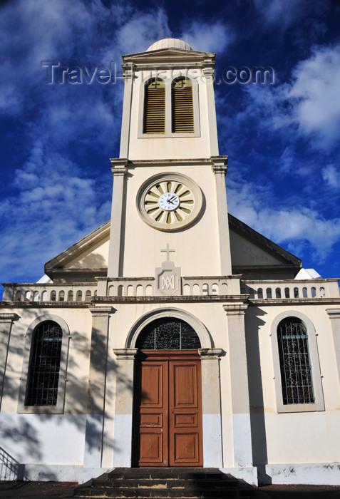 reunion239: Saint-Denis, Réunion: church at the corner of Rue Général de Gaulle and Rue Juliette Dodu - photo by M.Torres - (c) Travel-Images.com - Stock Photography agency - Image Bank