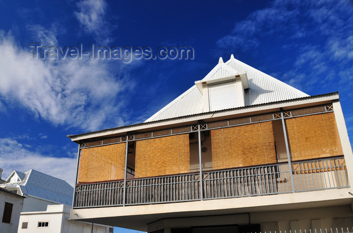 reunion242: Saint-Denis, Réunion: tropical balcony on rue Juliette Dodu - photo by M.Torres - (c) Travel-Images.com - Stock Photography agency - Image Bank