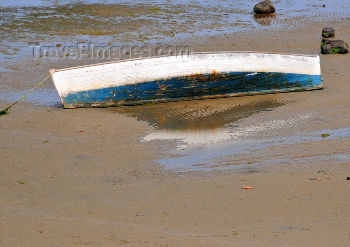 rodrigues20: Anse Mourouk, Rodrigues island, Mauritius: boat in the sand - photo by M.Torres - (c) Travel-Images.com - Stock Photography agency - Image Bank
