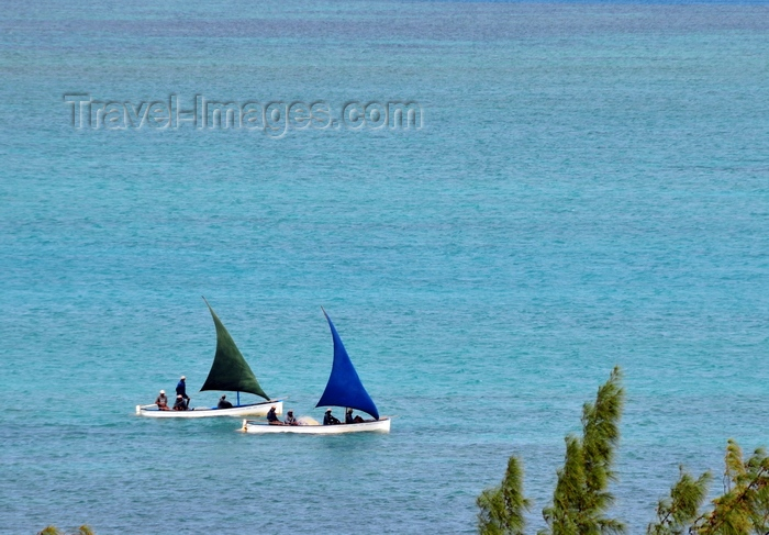 rodrigues24: Anse Mourouk, Rodrigues island, Mauritius: pair of fishing boats sail at the start of a new journey - photo by M.Torres - (c) Travel-Images.com - Stock Photography agency - Image Bank